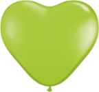 "6"" Heart Lime Green (100 count) Qualatex"