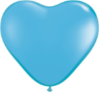 "6"" Heart Pale Blue (100 count) Qualatex"
