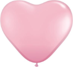 "6"" Heart Pink (100 count) Qualatex"