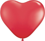 "6"" Heart Red (100 count) Qualatex"