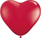 "6"" Heart Ruby Red  (100 count) Qualatex"