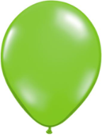 "11"" Round Jewel Lime (100 count) Qualatex"