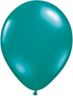 "11"" Round Jewel Teal (100 count) Qualatex"