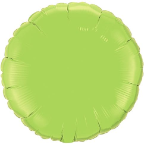 "18"" Round Lime Green Qualatex Microfoil (5 ct.)"