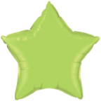"20"" Lime Green Star Qualatex (5ct)"