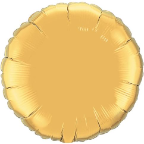 "18"" Round Gold Qualatex Microfoil (5 ct.)"
