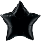 "20"" Onyx Black Star Qualatex (5ct)"