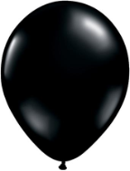 "9"" Round Onyx Black (100 count) Qualatex"
