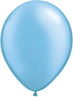 "5"" Round Pearl Azure (100 count) Qualatex"