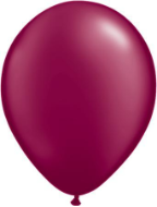 "5"" Round Pearl Burgundy (100 count) Qualatex"