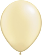 "5"" Round Pearl Ivory (100 count) Qualatex"