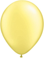 "5"" Round Pearl Lemon Chiffon (100 count) Qualatex"