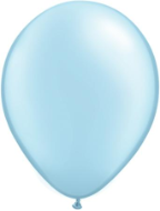 "11"" Round Pearl Light Blue (100 count) Qualatex"
