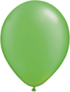 "11"" Round Pearl Lime Green (100 count) Qualatex"