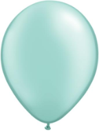 "11"" Round Pearl Mint Green (100 count) Qualatex"