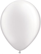 "11"" Round Pearl White (100 count) Qualatex"