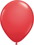 "11"" Round Red (100 count) Qualatex"