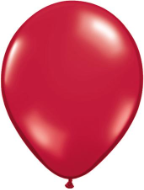 "5"" Round Ruby Red (100 count) Qualatex"