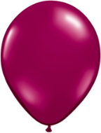 "5"" Round Sparkling Burgundy (100 count) Qualatex"