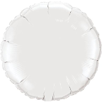 "18"" Round White Qualatex Microfoil (5 ct.)"