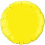 "18"" Round Yellow Qualatex Microfoil (5 ct.)"