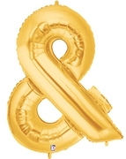 "AMPERSAND (&) 40"" GOLD MEGALOON (1 PK) POLYBAG"
