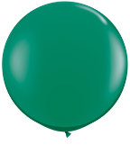 3' Round Emerald Green (2 count) Qualatex