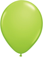 "5"" Round Lime Green (100 count) Qualatex"