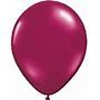 "16"" Round Maroon (50 Count) Qualatex"