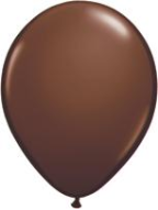 "11"" Round Chocolate Brown (100 count) Qualatex"