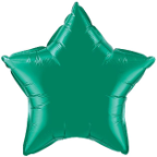 "20"" Emerald Star Qualatex (5ct)"