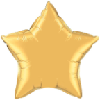 "20"" Metallic Gold Star Qualatex (5ct)"