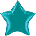 "20"" Teal Star Qualatex (5ct)"