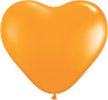 "6"" Heart Orange (100 count) Qualatex (SKU: 13764)"
