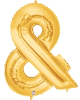 "AMPERSAND (&) 40"" GOLD MEGALOON (1 PK) POLYBAG (SKU: 15861GB)"
