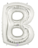 "LETTER ""B"" 40"" SILVER MEGALOON (1 PK) POLYBAG (SKU: 15902SB)"