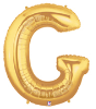 "LETTER ""G"" 40""  GOLD MEGALOON (1 PK) POLYBAG (SKU: 15907GB)"