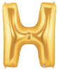 "LETTER ""H"" 40""  GOLD MEGALOON (1 PK) POLYBAG (SKU: 15908GB)"