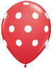 "11"" Round Big Polka Dot Red with Black Dots (50 Ct) (SKU: 37221)"