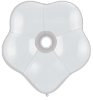 "6"" Geo Blossom - White (50 count) Qualatex (SKU: 37661)"
