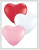 "6"" Heart Sweetheart Assortment (100ct) Qualatex (SKU: 43644)"