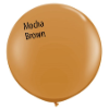 3' Round Mocha Brown (2 count) Qualatex (SKU: 44564)