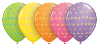 "11"" Polka Dot Assortment with Yellow, Orange, Rose, Spring Lilac, & Lime Green in 50 count bag (SKU: 37077)"