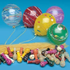 YoYo Balloons (100ct) Assortment (w clips) (SKU: 7100AC)