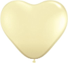 "6"" Heart Ivory Silk (100 count) Qualatex (SKU: 48586)"