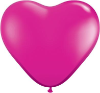 "6"" Heart Jewel Magenta (100 count) Qualatex (SKU: 99328)"