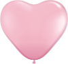 "6"" Heart Pink (100 count) Qualatex (SKU: 43642)"
