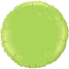 "18"" Round Lime Green Qualatex Microfoil (5 ct.) (SKU: 73310)"