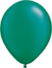 "11"" Round Pearl Emerald Green (100 count) Qualatex"