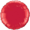 "18"" Round Ruby Red Qualatex Microfoil (5 ct.) (SKU: 22634)"